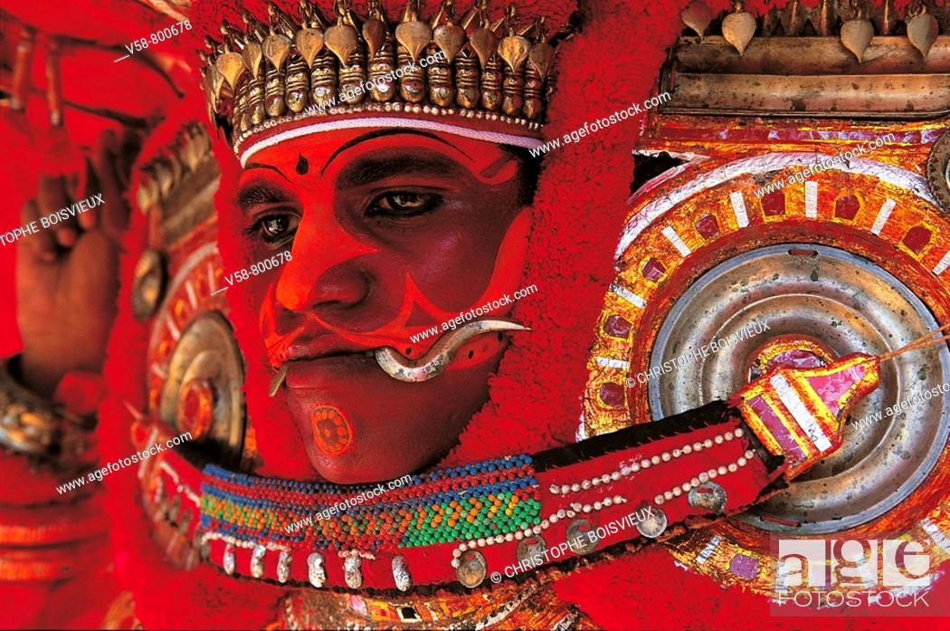 Stock Photo: Theyyam, Kerala, India.