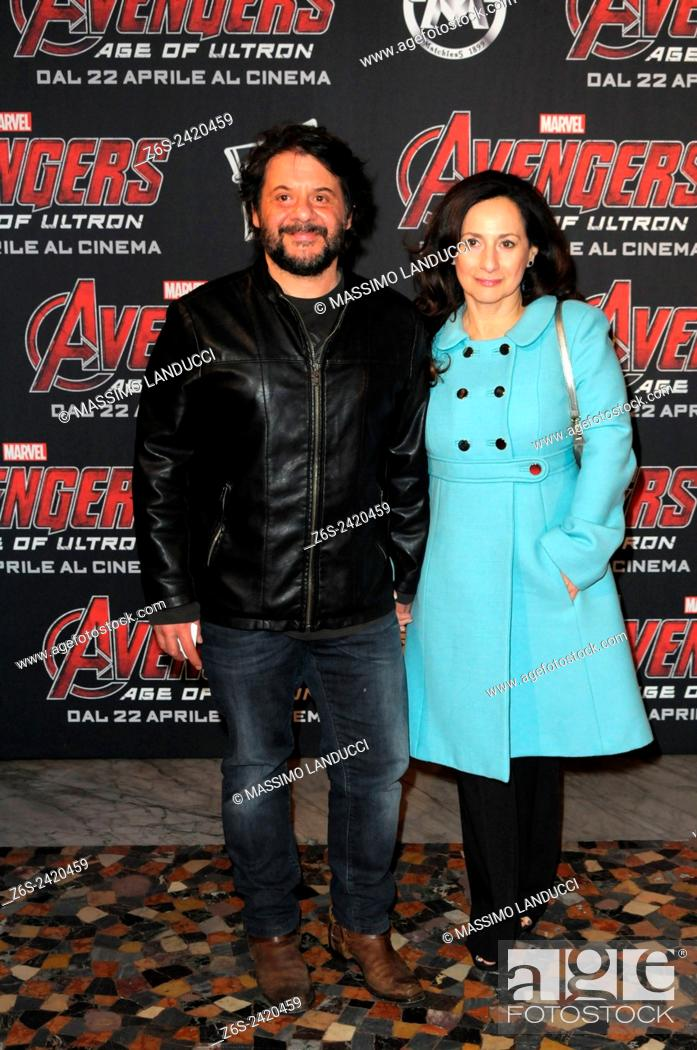 Stock Photo: Pasquale Petrolo ; lillo; actor ; celebrities; 2015;rome; italy;event; red carpet ; avengers, age of ultron.
