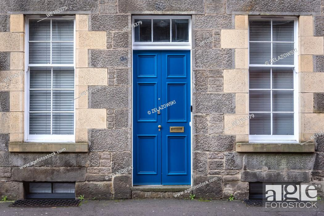 Stock Photo: Residential building in Newington area of Edinburgh, the capital of Scotland, part of United Kingdom.