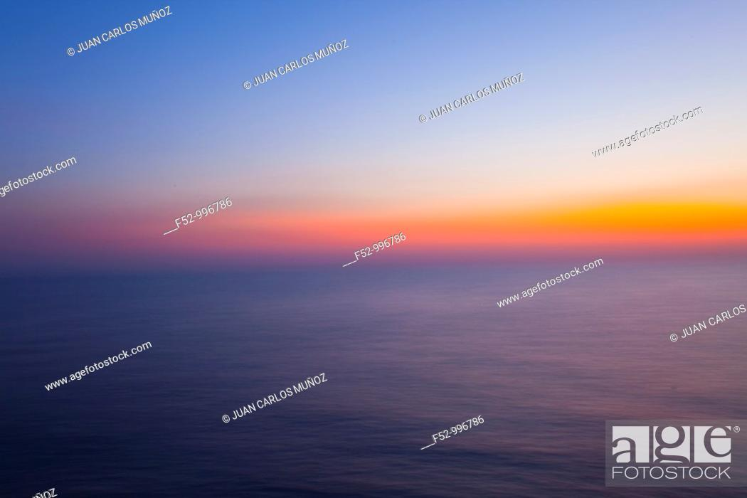 Stock Photo: Sunset in the Persian Gulf.