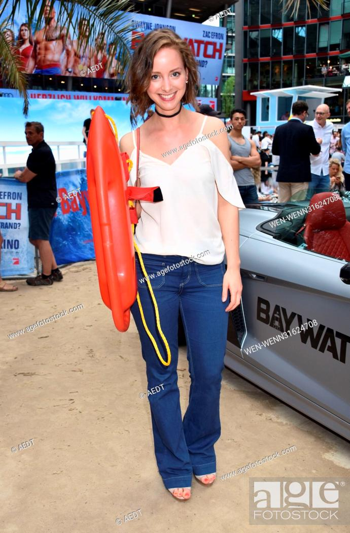 Stock Photo: European Premiere Baywatch at CineStar movie theatre at Sony Center Potsdamer Platz. Featuring: Amelie Plaas-Link Where: Berlin.