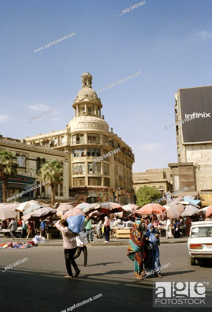 Stock Photo: Former Tiring department store in Midan Ataba Square in Central Downtown Cairo in Egypt in North Africa.