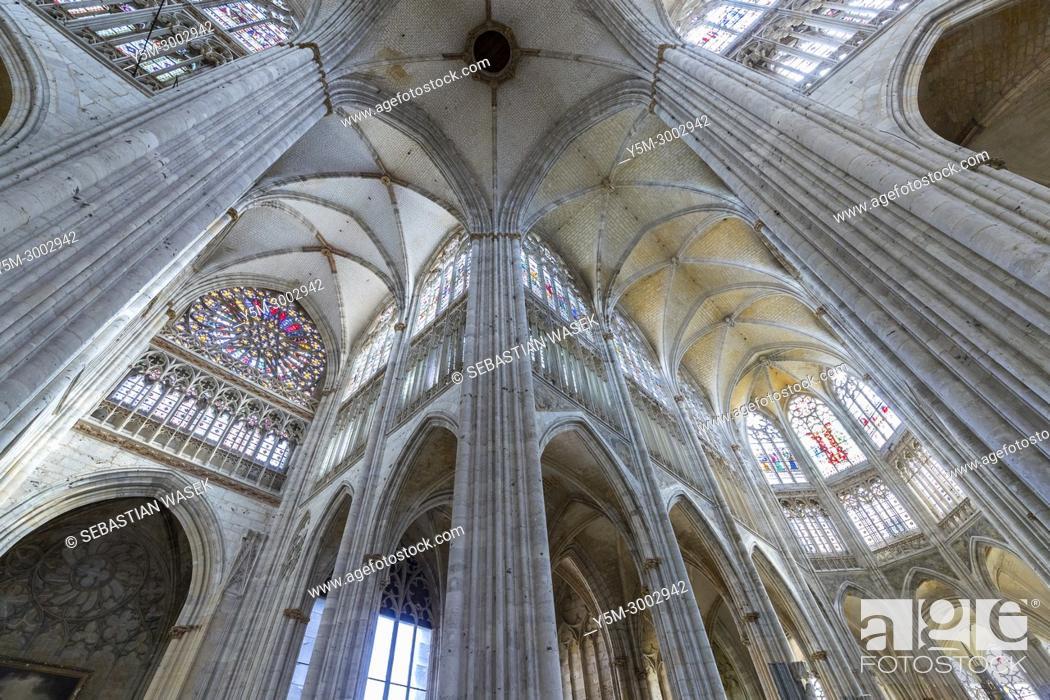 Stock Photo: Monastery of Saint-Ouen, Rouen, Seine-Maritime, Normandie, France, Europe.