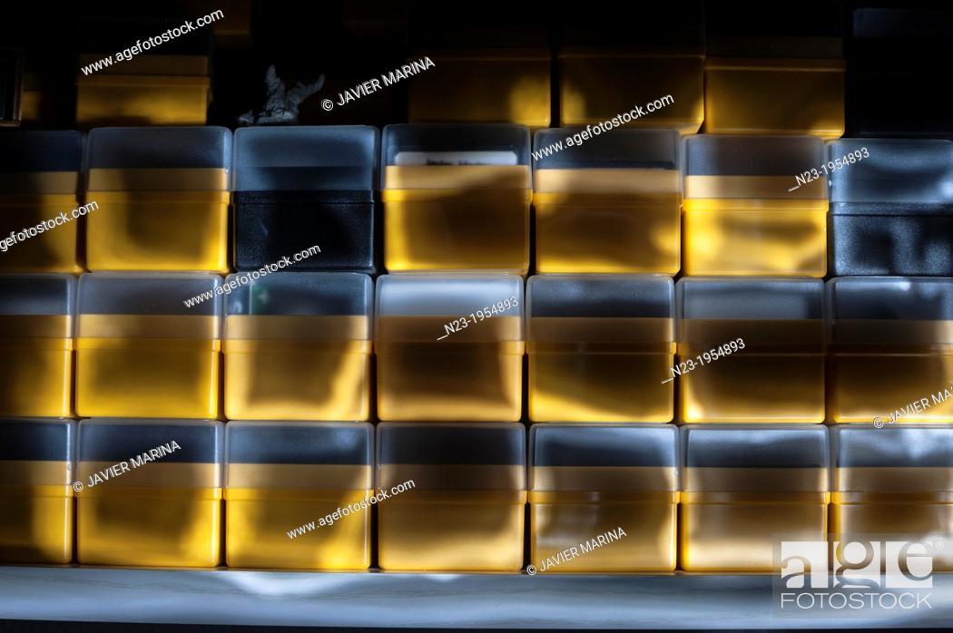 Stock Photo: slide boxes.