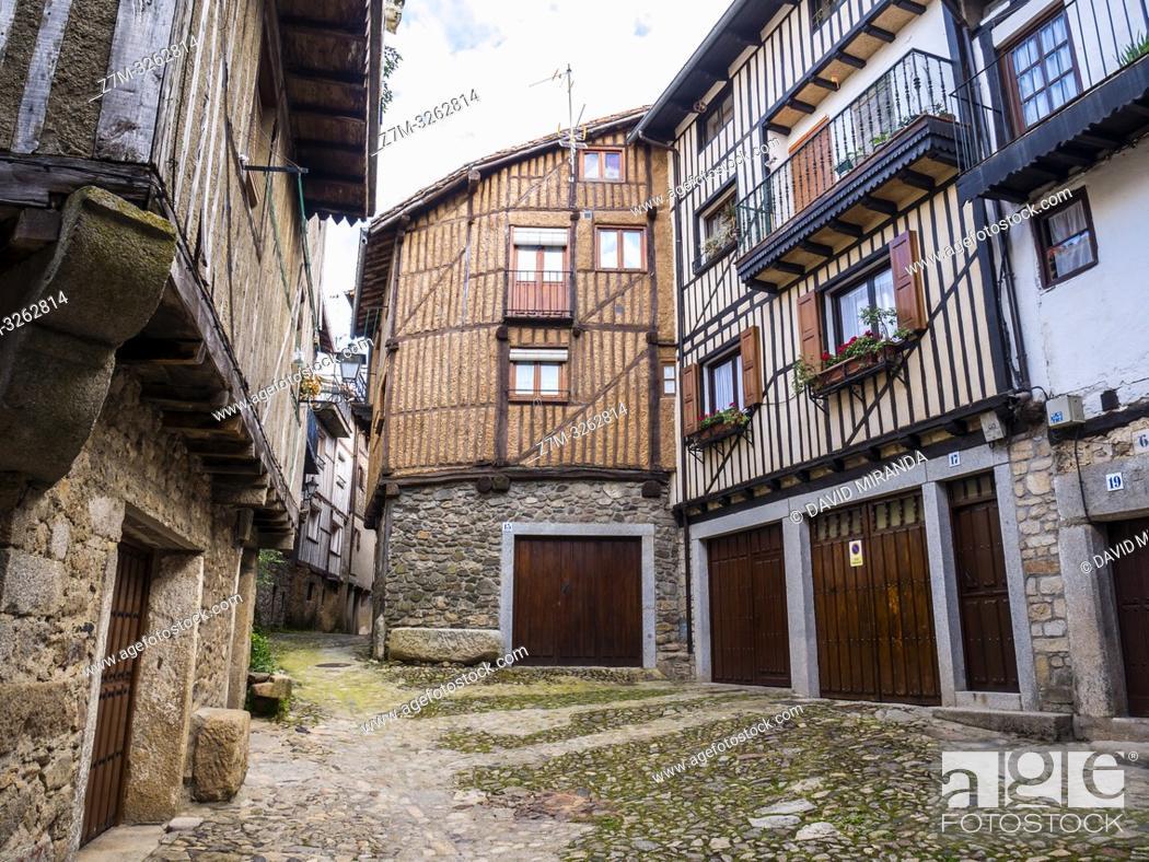 Imagen: Arquitectura tradicional. La Alberca. Sierra de Francia. Salamanca. Castilla León. España.