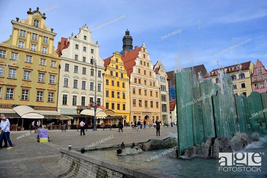 Imagen: Market square (Rynek) of Wroclaw or Breslau, Poland.