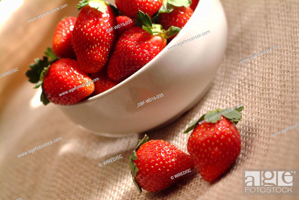 Stock Photo: Food, fruit, strawberry.