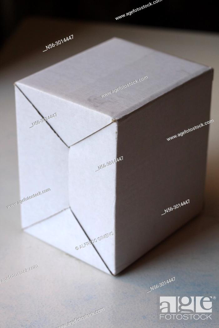 Stock Photo: white carton box.
