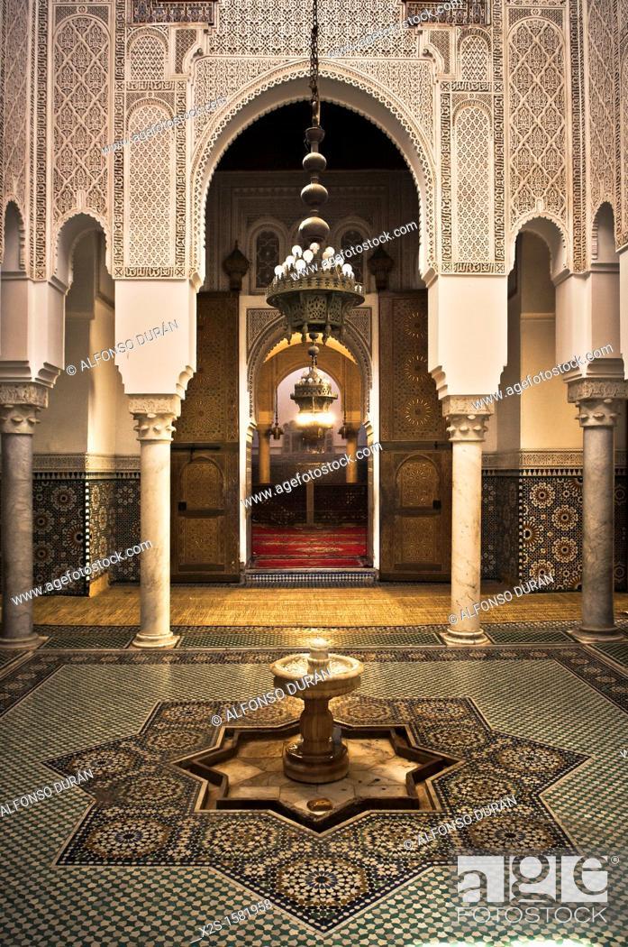 Stock Photo: Door, Meknes, Morocco.