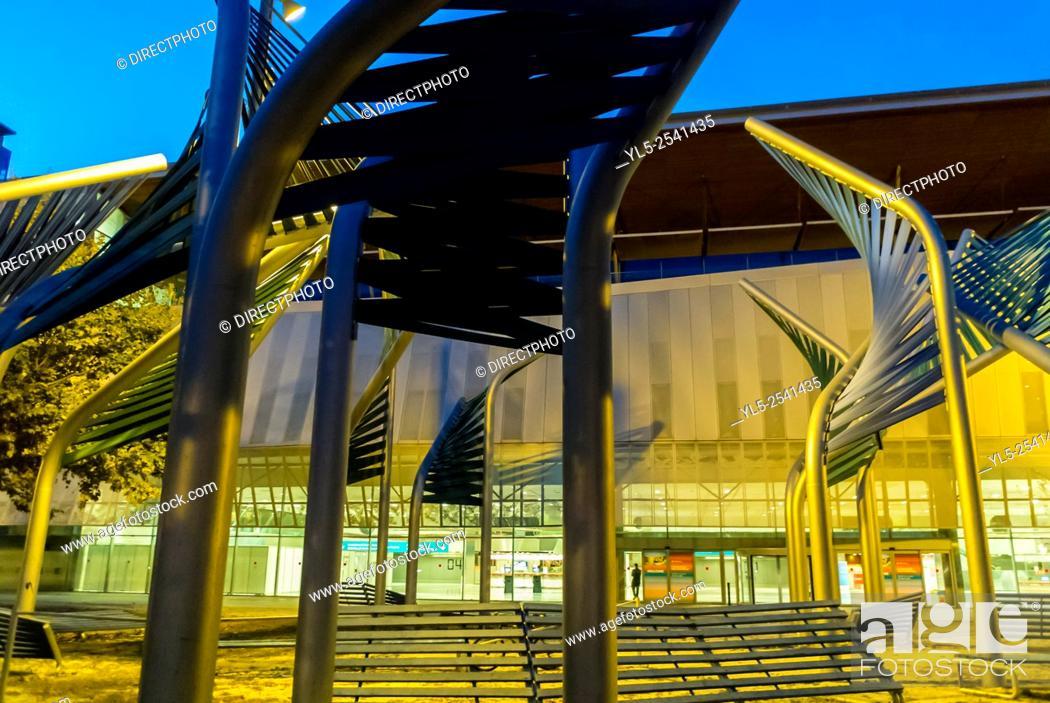Stock Photo: Barcelona, Spain, CCIB Convention Center, Building.