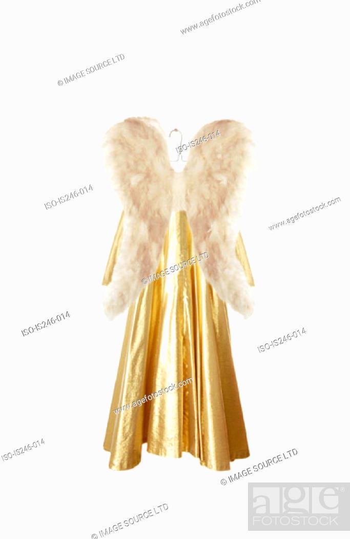 Stock Photo: Angel costume on hanger.