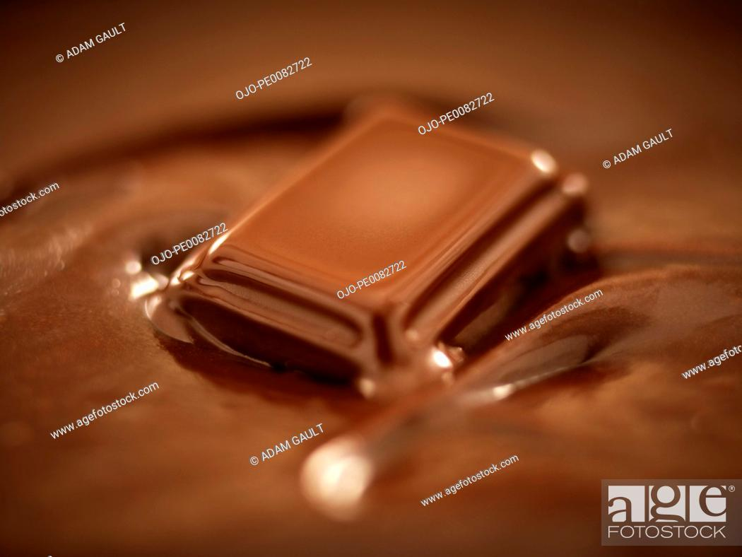 Stock Photo: Melting chocolate.