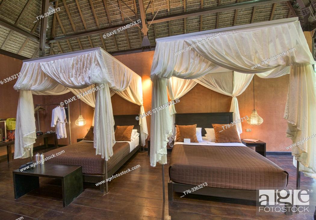 Stock Photo: Luxury resort in the jungle, Peruvian Amazon.