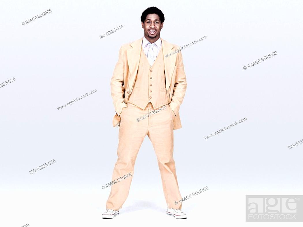 Stock Photo: Man wearing a suit.