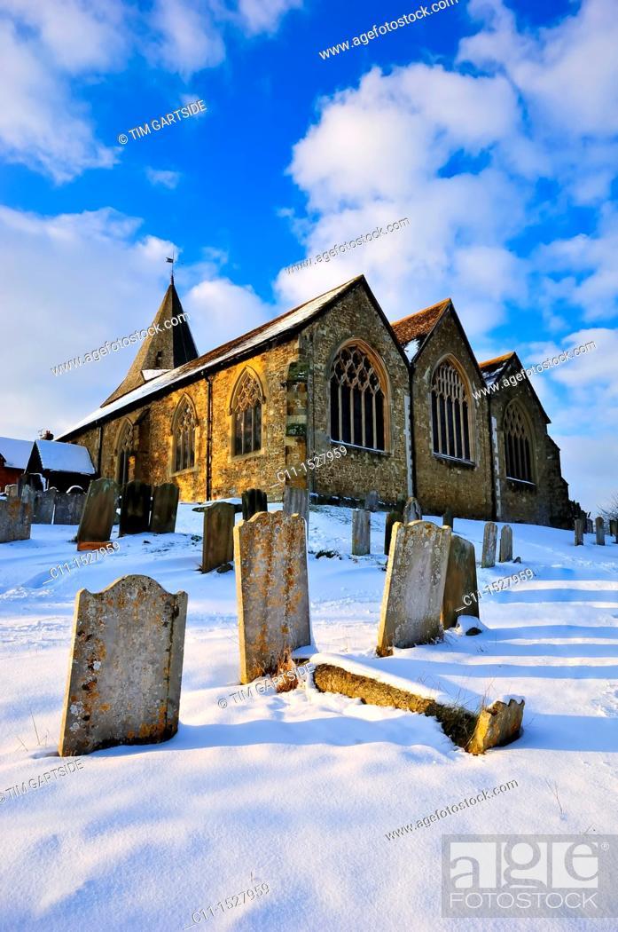 Imagen: church, westerham, kent, england, uk, europe.