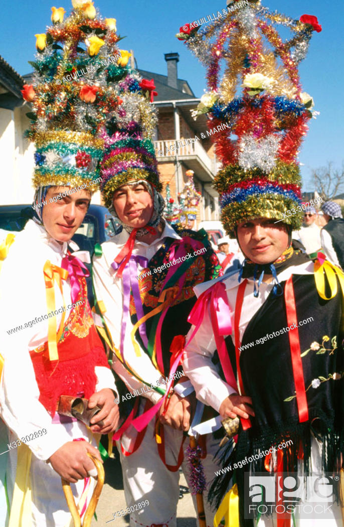 Stock Photo: Carnival. Vilarmeao. Orense province. Galicia. Spain.