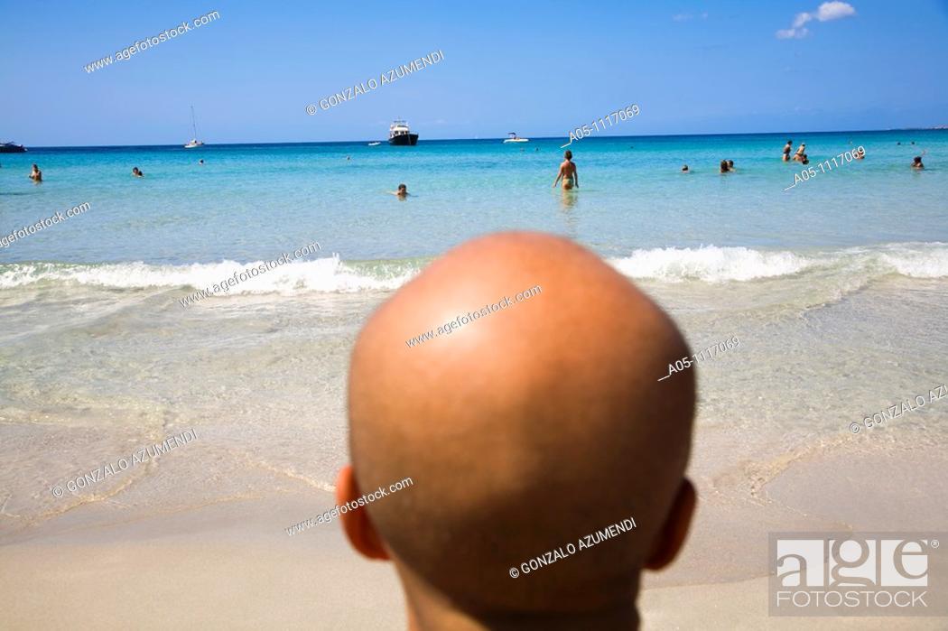Stock Photo: Binigaus beach. Minorca. Balearic Islands. Spain.