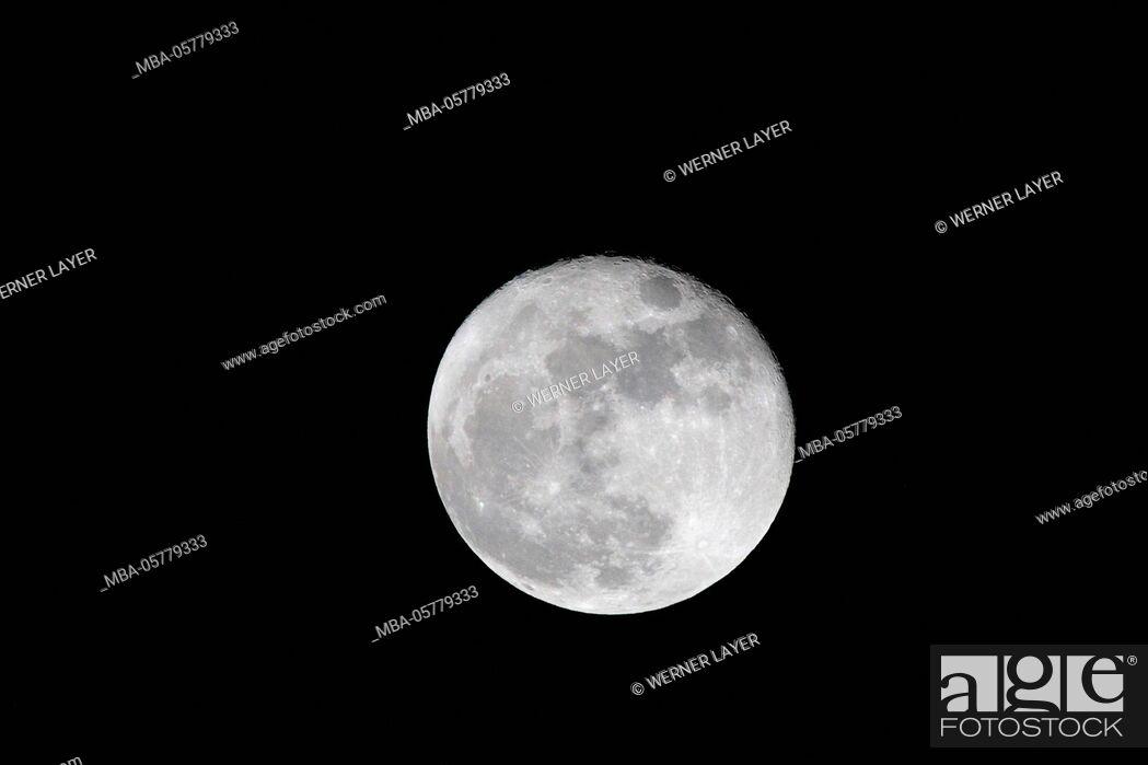 Stock Photo: Full moon.
