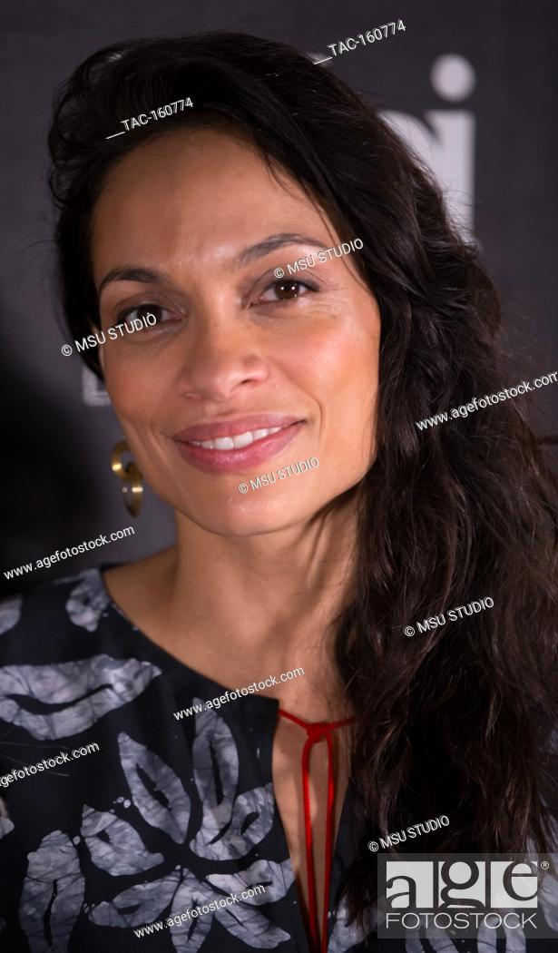 Stock Photo: Actress Rosario Dawson honored with The Social Justice Filming In Italy Award at Italian Cultural Institute on February 2, 2018 in Los Angeles, California.