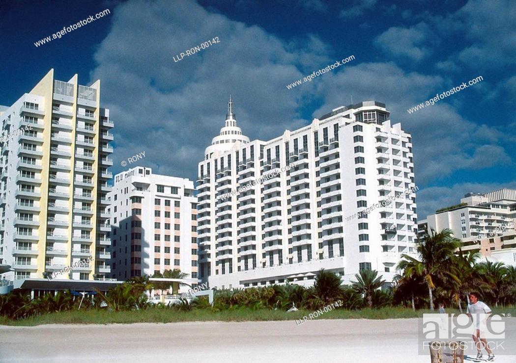Stock Photo: USA, Florida, Miami Beach, Buildings.