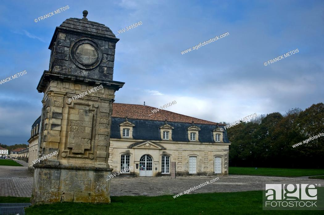 Stock Photo: Monument called 'the Corderie royale' ( Rochefort, France).
