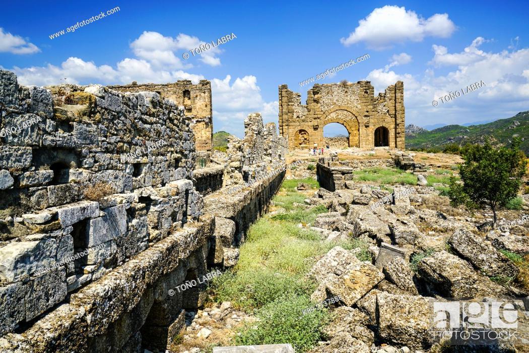Stock Photo: Aspendos Basilica. Ancient Greece. Asia Minor. Turkey.