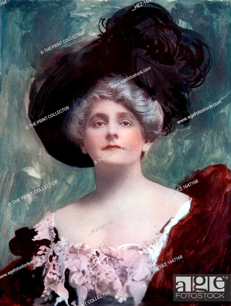 Stock Photo: Cecil Raleigh (1856-1914), English actress and playwright, 1902. Raleigh in costume from her own work, The Best of Friends.