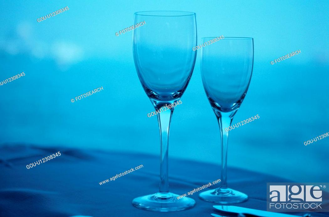 Stock Photo: Wine Glasses.