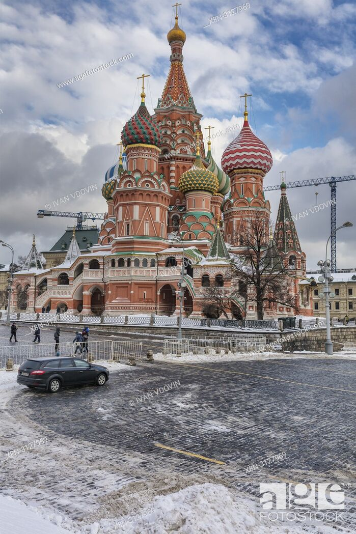 Stock Photo: Saint Basil's Cathedral, Red square, Moscow, Russia.