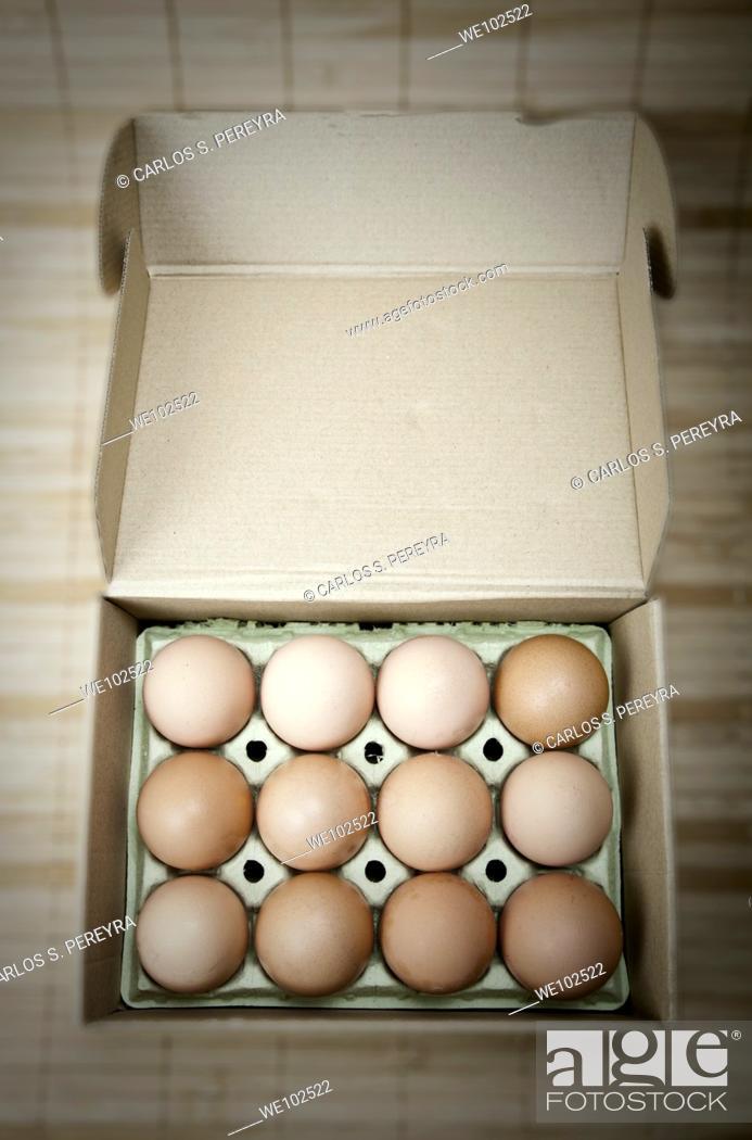 Stock Photo: organic eggs from a farm in the Mediterranean.