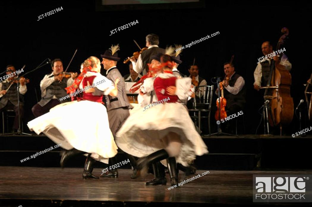 Stock Photo: Hungary, Budapest, folk dance.