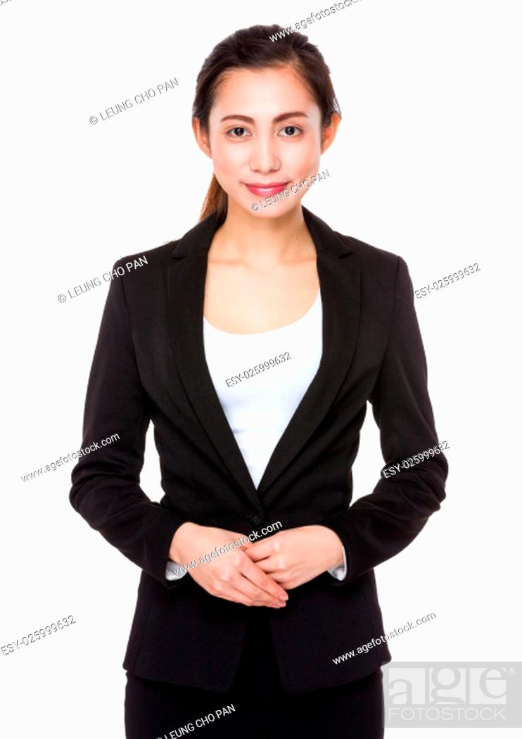 Stock Photo: Young businesswoman portrait.