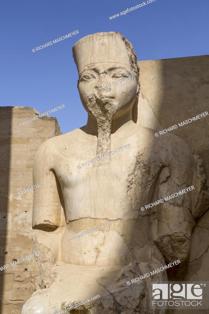 Stock Photo: Only Know Statue of King Tutankhamun, Luxor Temple, UNESCO World Heritage Site, Luxor, Egypt.