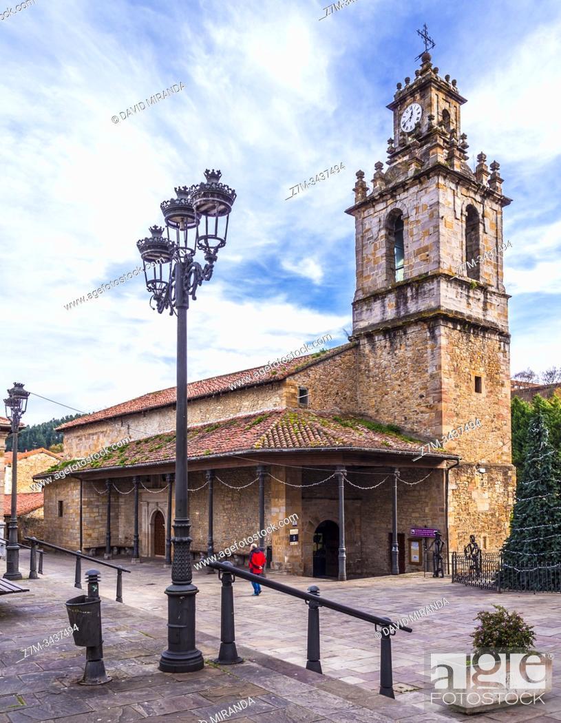 Stock Photo: Iglesia de San Juan. Balmaseda. Vizcaya. País Vasco. España.