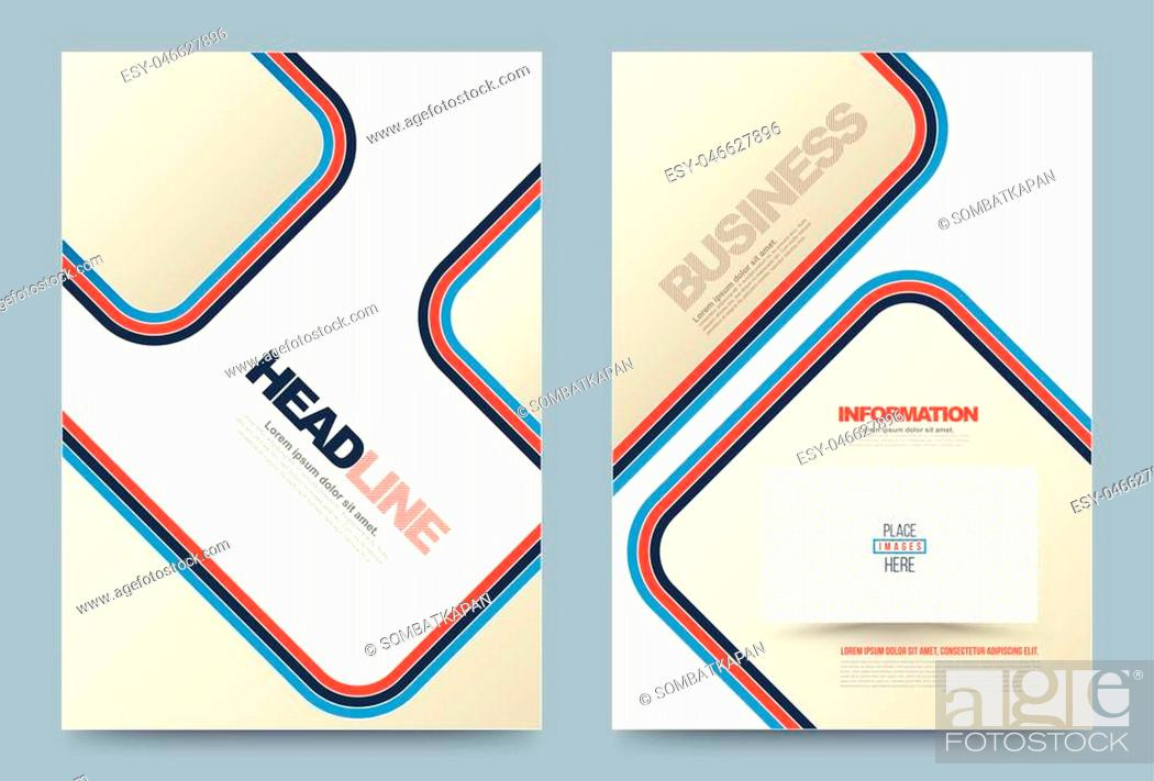 Stock Vector: Business annual report brochure flyer design template vector, Leaflet cover presentation abstract geometric background, modern publication poster magazine.