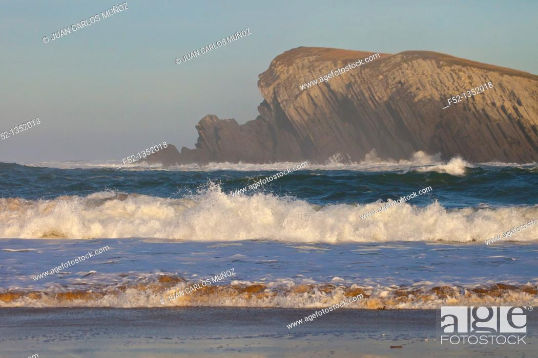 Stock Photo: Covachos coast, Liencres, Cantabria province, Cantabrian Sea, Spain, Europe.