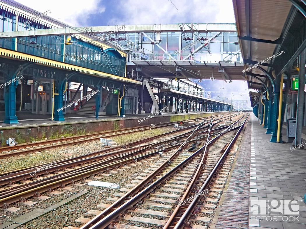 Stock Photo: Railway station. driveways.