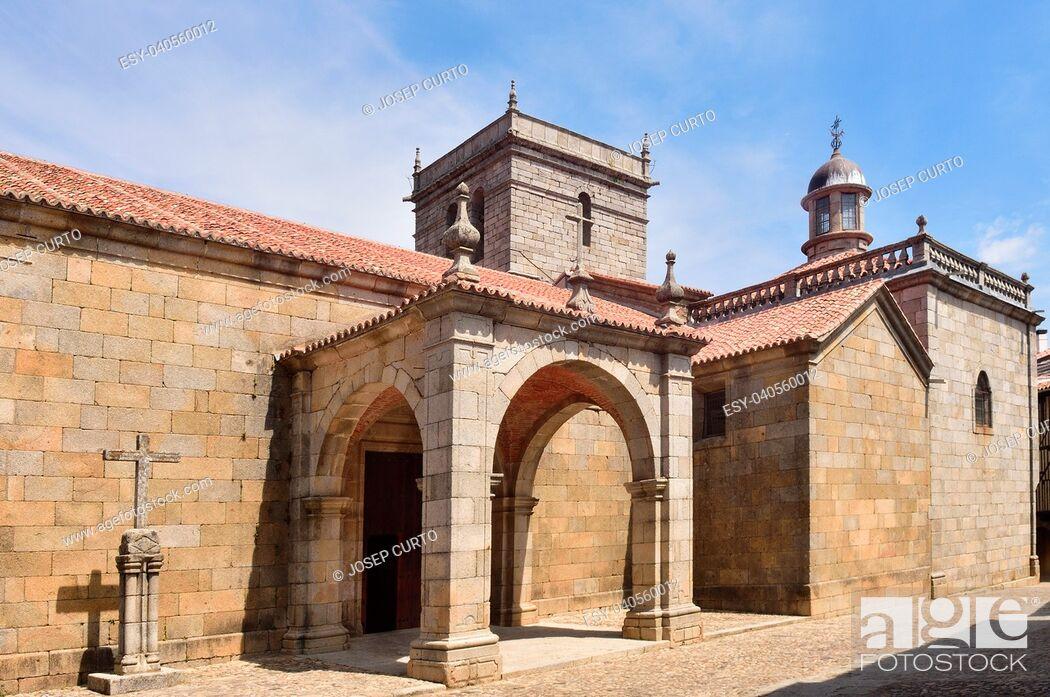 Stock Photo: La Asuncion church, La Alberca, Salamanca province, Castilla-Leon, Spain.