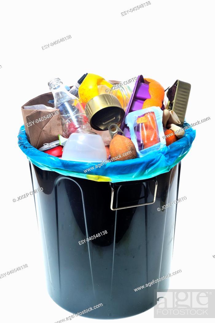 Stock Photo: garbage on white background.