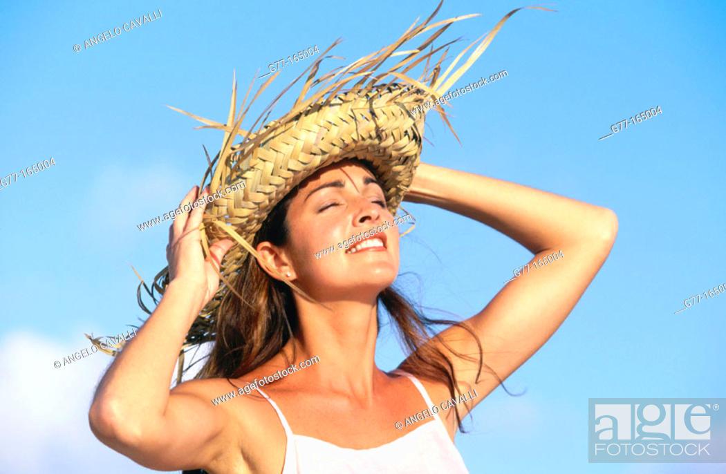 Stock Photo: Woman on caribbean beach.