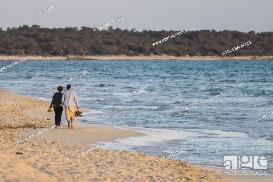 Stock Photo: Ses Covetes, Campos del Puerto, Migjorn, Mallorca, Balearic Islands, Spain, Europe.