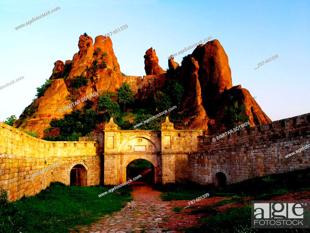 Stock Photo: Kaleto fortress Belogradchik rocks Belogradchik Bulgaria.