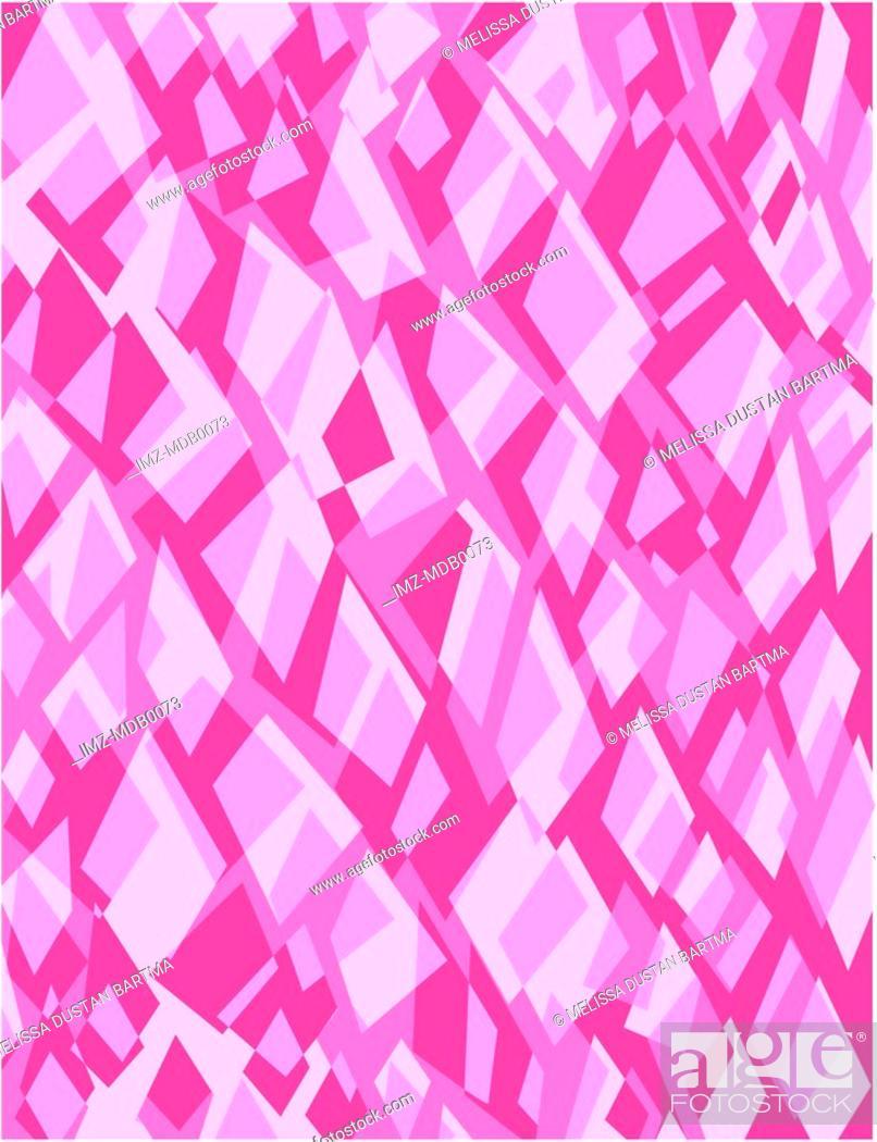 Stock Photo: Pink and purple retro geometric pattern illustration.