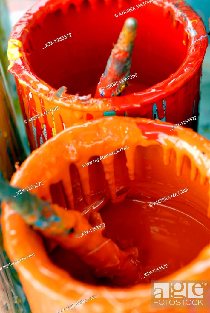 Stock Photo: Colour Cans.