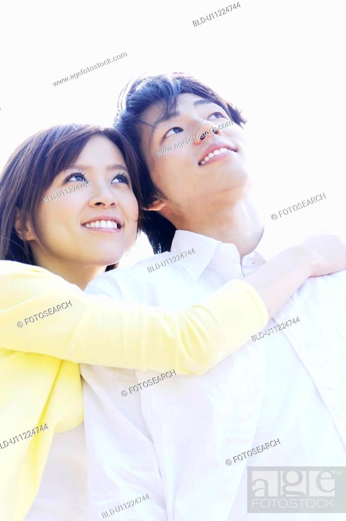 Stock Photo: Image of young couple.