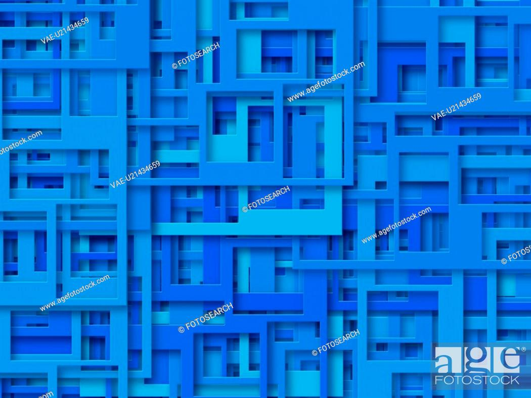 Stock Photo: Blue Rectangles.