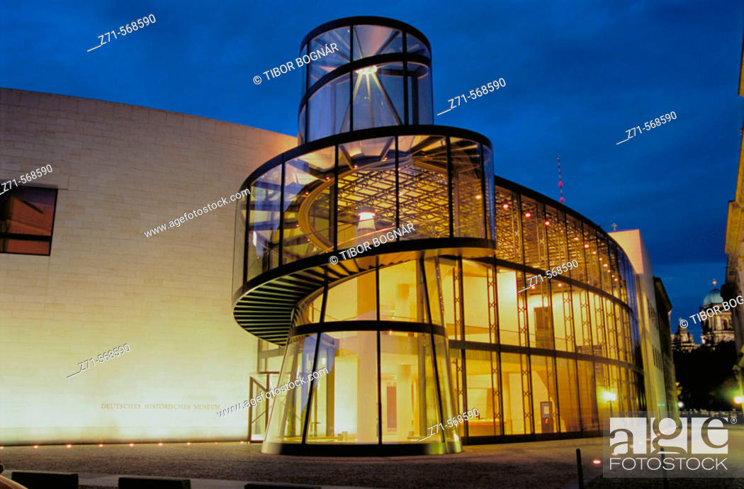Stock Photo: Extension to the Deutsches Historisches Museum by Ieoh Ming Pei, Berlin. Germany.