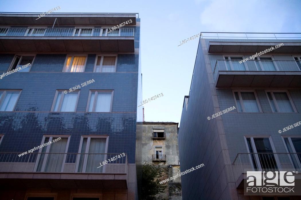 Stock Photo: Facades in Chiado, Lisboa, Portugal.