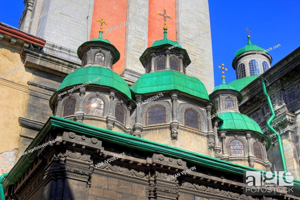 Stock Photo: Dormition Church, Lviv, Lviv oblast, Ukraine.