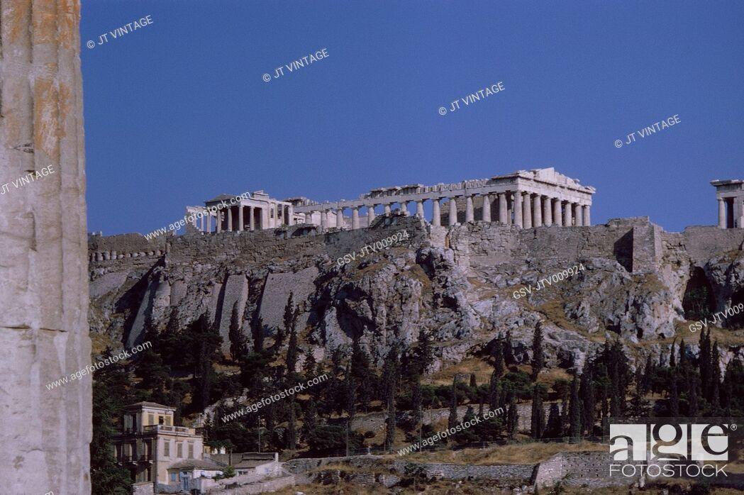 Stock Photo: Acropolis, Athens, Greece, 1963.